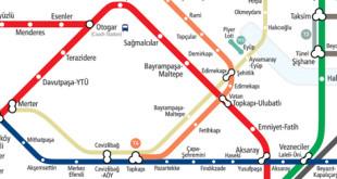 خريطة محطة الترام في اسطنبول