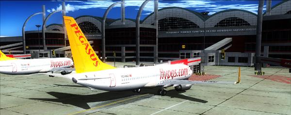 طيران بيجاسوس في مطار صبيحة في اسطنبول