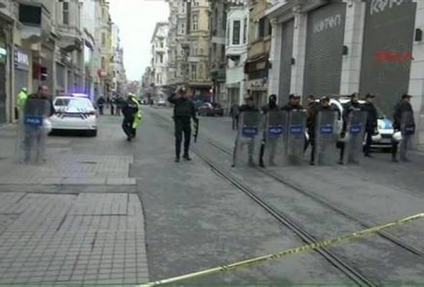 الانفجار في شارع الاستقلال في اسطنبول