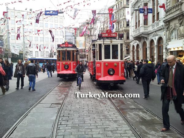 شارع الاستقلال القريب من فندق ريكسوز بيرا اسطنبول